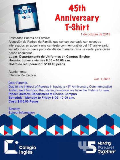 T-Shirt 45th Anniversary Sale