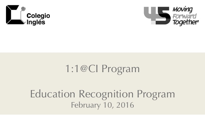 Education Recognition Program Event