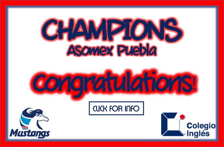 Champions! ASOMEX Puebla