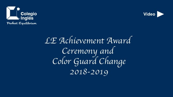 LE Achievement Award