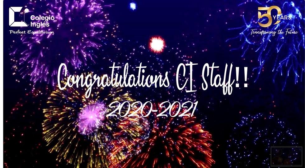 Congratulations CI Staff!