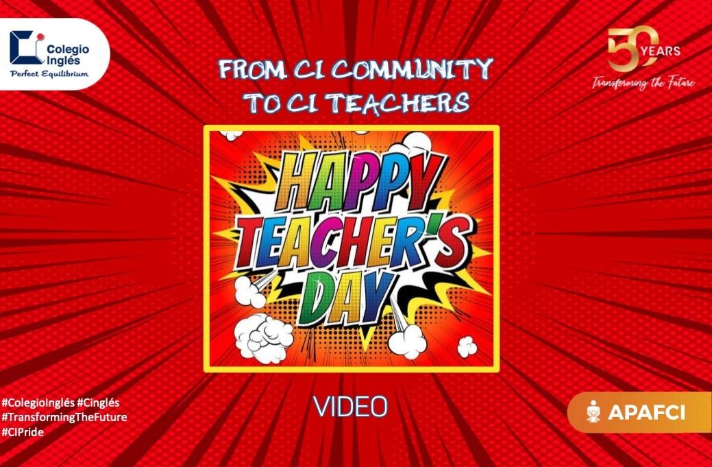 Happy Teacher Day from CI Community